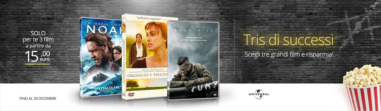 3 DVD a partire da 15 euro