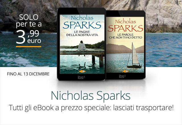 Nicholas Sparks: tutti gli eBook a 3,99 euro