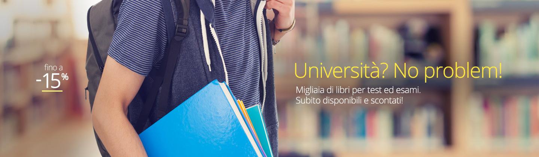 Libri per l'università fino a -15%