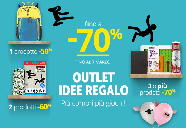 Outlet  fino a -70%