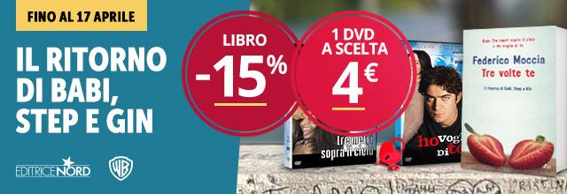 Se prenoti il nuovo libro di Federico Moccia un DVD a scelta a soli 4 euro
