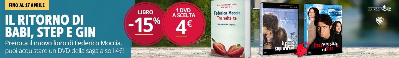 Se prenoti il nuovo libro di Federico Moccia un DVD a scelta a 4 euro