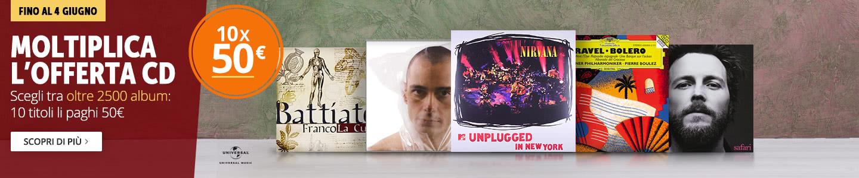 10 CD X 50€