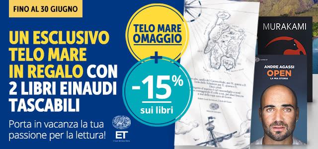 Un telo mare con Einaudi tascabili