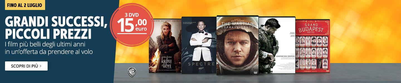 3 DVD a 15 euro