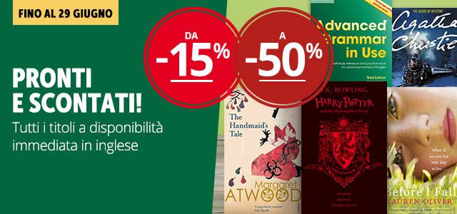 Libri in inglese da -15% a -50%