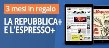 Sfoglia La Repubblica e L'Espresso per tre mesi