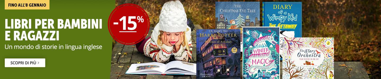 Libri per bambini e ragazzi -15%