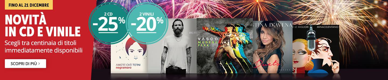 2 CD -25%, 2 vinili -20%!