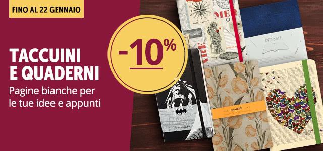 Taccuini e quaderni -10%