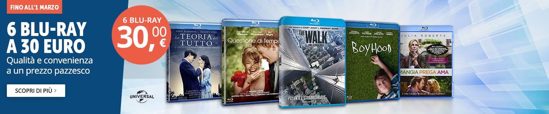 6 Blu-ray a 30 euro
