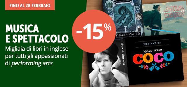Musica e spettacolo -15%