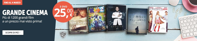 5 DVD a 25 euro!