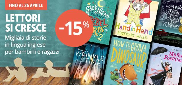 Libri in inglese per bambini e ragazzi -15%