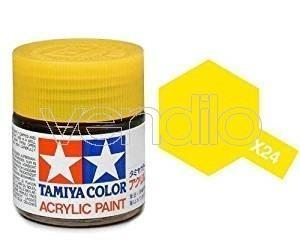Mini X-24 Clear Yellow 10Ml Acrylic Color per Modellismo Tamiya