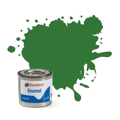 Humbrol No 131 Mid Green Satin Enamel Tinlet No 1 14Ml