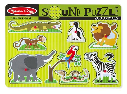 Sound Puzzle Zoo Animals Puzzle con formine 8 pezzo(i) - 8