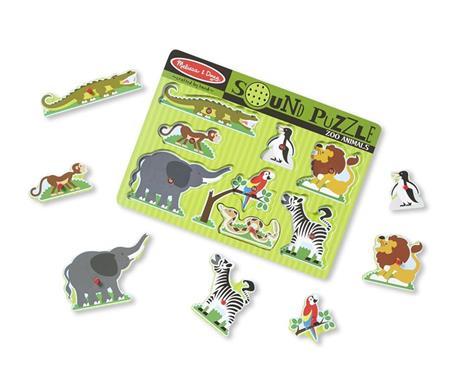 Sound Puzzle Zoo Animals Puzzle con formine 8 pezzo(i) - 9
