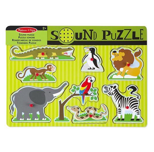 Sound Puzzle Zoo Animals Puzzle con formine 8 pezzo(i) - 11