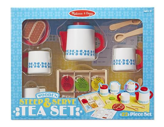 Melissa & Doug Wooden Steep And Serve Tea Set - 4