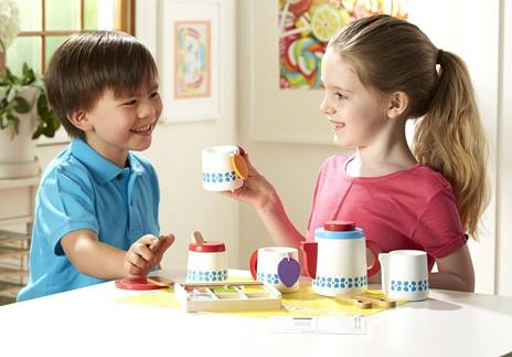 Melissa & Doug Wooden Steep And Serve Tea Set - 6