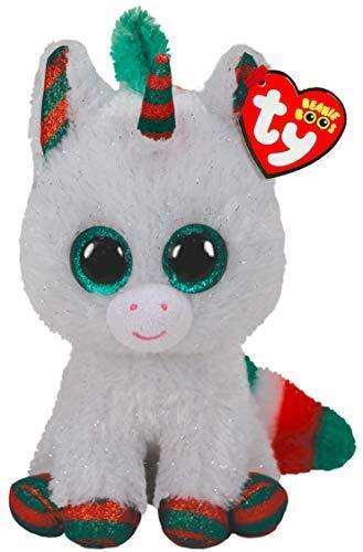 """Ty 36238 Beanie Boos 6"""" Christmas Edition Snowfall The Unicorn"""