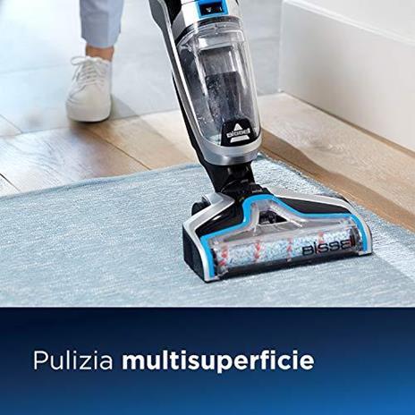 BISSELL CrossWave Cordless, Dispositivo Senza Fili Multisuperficie 3-in-1, Aspira, Lava & Asciuga, Pulisce Pavimenti & Tappeti, Fino a 30 min di Pulizia, 1.44 litri, 2582N - 3
