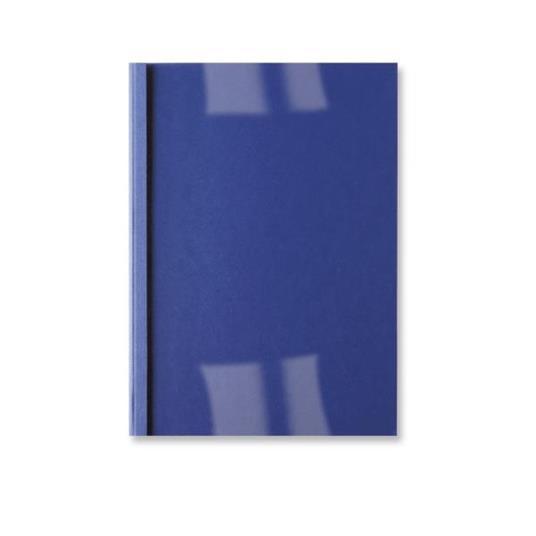 GBC Copertine rilegatura termica LeatherGrain 6mm blu royal(100)