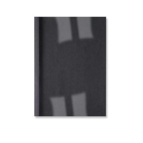 GBC Copertine rilegatura termica LeatherGrain 1,5 mm nere (100)