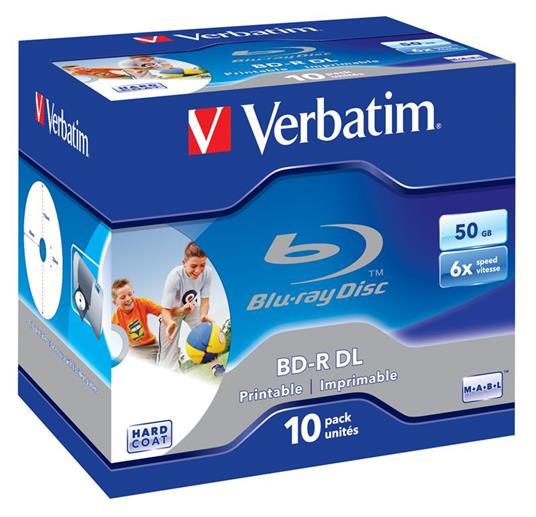 Verbatim 43736 disco vergine Blu-Ray BD-R 50 GB 10 pezzo(i)