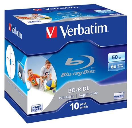 Verbatim 43736 disco vergine Blu-Ray BD-R 50 GB 10 pezzo(i) - 2