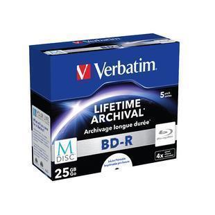 Blu-ray-RW Verbatim Blu-ray 25Gb (5 Pezzi)