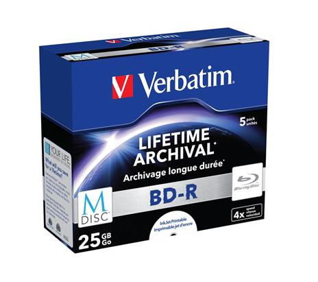Blu-ray-RW Verbatim Blu-ray 25Gb (5 Pezzi) - 10