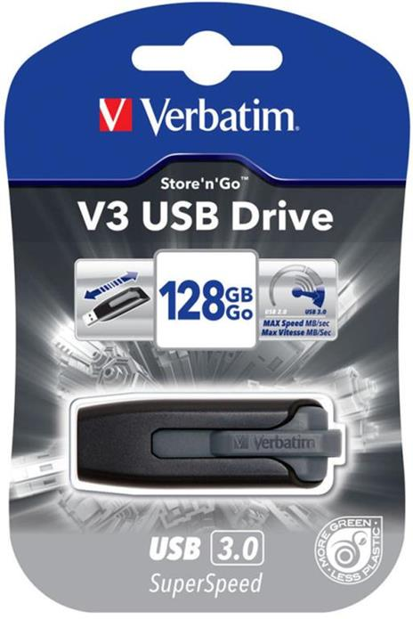 Verbatim V3 - Memoria USB 3.0 128 GB - Nero