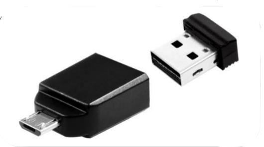 Verbatim Nano - Memoria USB da 32 GB con Adattatore Micro USB - Nero - 3