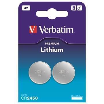 Verbatim CR2450 litio 3V - 2