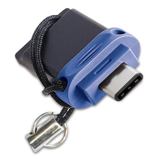 Verbatim Dual - Memoria USB 3.0 da 64 GB - USB-C / USB-A - Blu