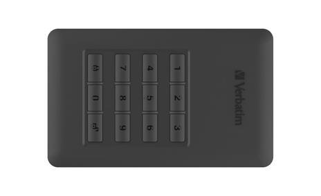 Verbatim Disco rigido portatile Store 'n' Go® Secure con tastierino di accesso da 1TB - 3