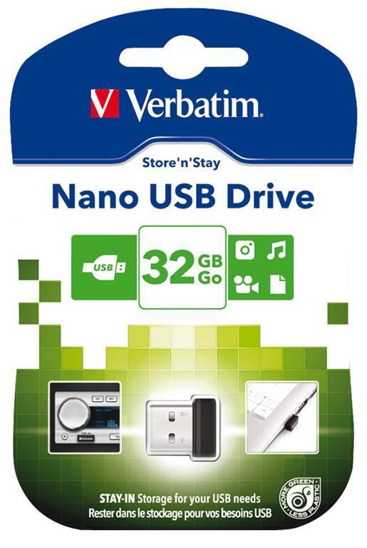 Verbatim Store 'n' Stay NANO - Memoria USB da 32 GB - Nero - 7