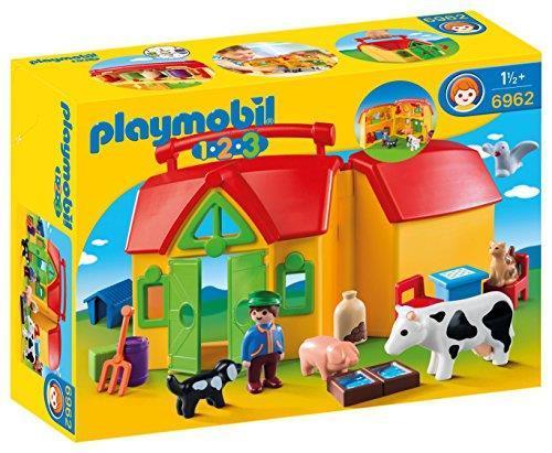 Playmobil 1.2.3 6962 Fattoria Portatile, dai 18 mesi