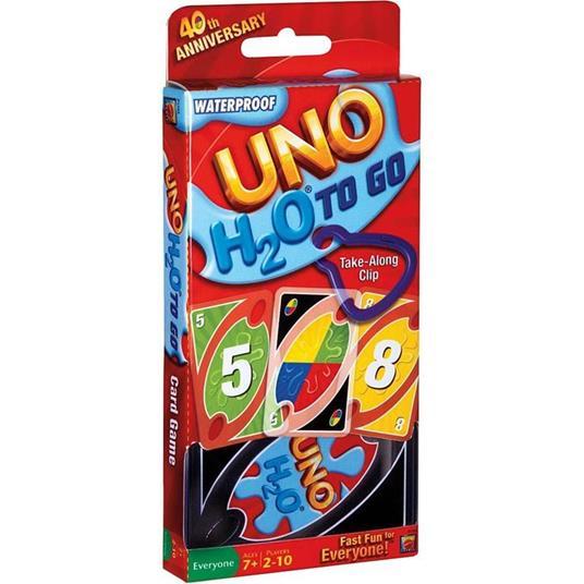 Mattel Games UNO H2O Gioco di Carte Impermeabile, Regalo per Bambini 7+ Anni. Mattel (P1703) - 4