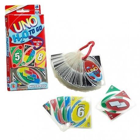 Mattel Games UNO H2O Gioco di Carte Impermeabile, Regalo per Bambini 7+ Anni. Mattel (P1703) - 6