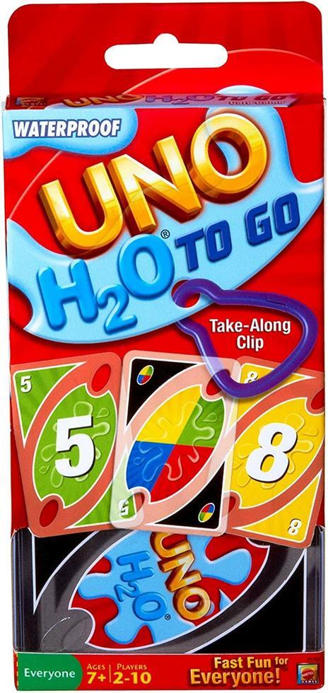 Mattel Games UNO H2O Gioco di Carte Impermeabile, Regalo per Bambini 7+ Anni. Mattel (P1703) - 9