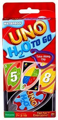 Mattel Games UNO H2O Gioco di Carte Impermeabile, Regalo per Bambini 7+ Anni. Mattel (P1703) - 2