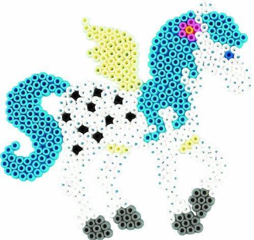 Hama 3033. Set da regalo di perline da stirare soggetto: cavalli dal mondo fantastico circa 6000 pz. - 3