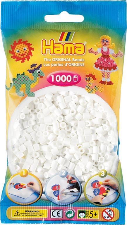 Bustina 1000 perline colore bianco - 3