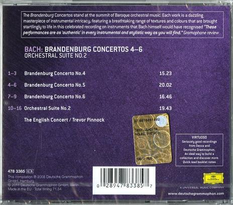 Concerti brandeburghesi n.4, n.5, n.6 - CD Audio di Johann Sebastian Bach,English Concert,Trevor Pinnock - 2