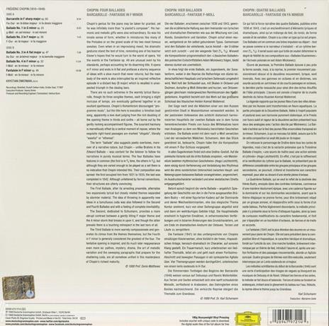 4 Ballate - Barcarola - Vinile LP di Frederic Chopin,Krystian Zimerman - 2