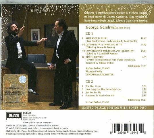 Rhapsody in Blue (Deluxe Edition) - CD Audio di George Gershwin,Stefano Bollani,Riccardo Chailly,Gewandhaus Orchester Lipsia - 2