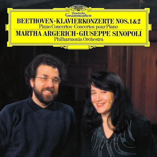 Concerto per pianoforte n.1, n.2 - Vinile LP di Ludwig van Beethoven,Martha Argerich,Giuseppe Sinopoli